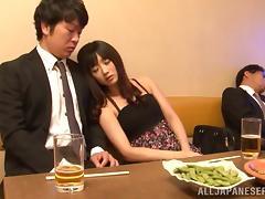 Busty porn hottie Hibiki Ohtsuki treats cock a hot and nasty blowjob