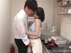Sexy and lovely porn hottie Airi Suzumura treats cock a hot and nasty blowjob