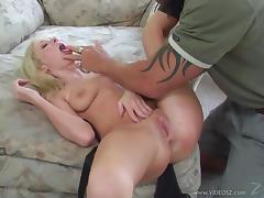 Hillary Scott gets poked in the pussy and ass by a hung stud