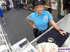 Ms police officer with big boobs gets fucked at the pawnshop