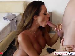 Busty mom Ariella Ferrera gets fucked and facialized
