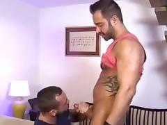 Horny gay hunks fuck one another in the asshole
