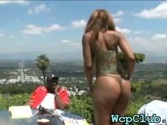 Black guy bangs white gal