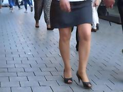 Sexy Legs! mature walking high heels open toe
