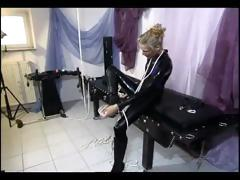Horny slave girl getting tied up