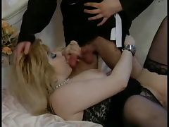Crazy old bitch vs cock