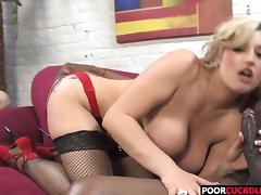 A BBC For HotWife Dayna Vendetta While Cuckold Watching