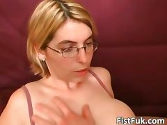 Blonde MILF shows her big boobs and wet part2