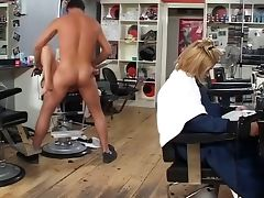 British slut Taylor gets fucked at the hairdressers