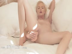 Charming blonde pornstar in art movie