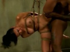 Bound bdsm fetish slut mouth and pussy fuck