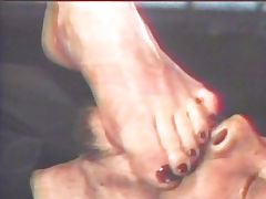 Blond foot fetish vintage chick pleasing