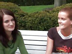 Horny brunette amateur girl gets talked