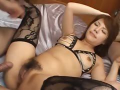 sexy chinese anal fucking with lingerie