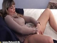 Older mature woman enjoys laying part6