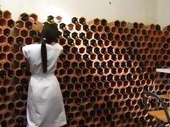 bonin in the wine cellar