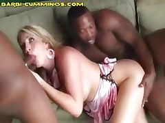 Blonde Fucks While Sucking