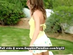 Hailee and Mischelle and Mya from sapphic erotica lesbo girls undressing