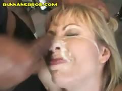 Blonde Wants Black Bukkake