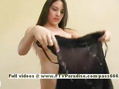 Esra Ingenious hot brunette chick dressing teasing
