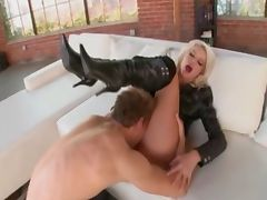 He Likes Her Boots Off and Fully Nude When Fucking