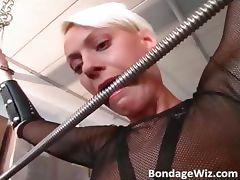 Hot busty blonde sucks on guy hard dick part6