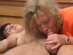 Blonde Mature Fucks Young Boy