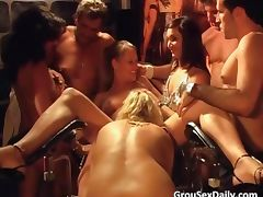 Unbelievable group gang bang party