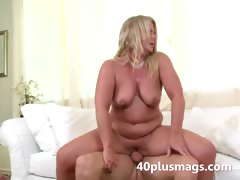 Plump blonde MILF Susan B