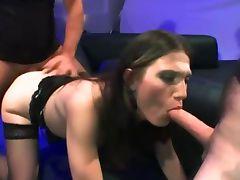 Fetish bukkake slut fuck suck and cum facial