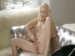 Pink orgasm of true blonde girl