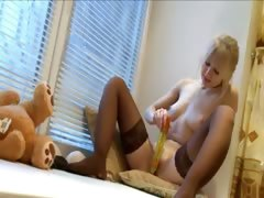 Ultra extreme lingerie and huge dildo