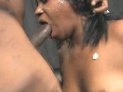 Dirty Black Ghetto Slut Roughly Face Fucked And Spit On