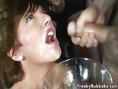 Sexy babe gets covered with loads of cum part4