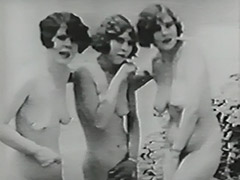Three Naked Girls and Gloryhole in Beach Cabin 1930