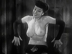 Gorgeous Stripper Gives a Hot Striptease 1950