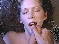 Cum Loving Hairy Pussy Babe is Being Fucked Both Ways just to get a Fine Dose of Cum
