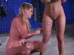 Dominatrix takes her new slave home