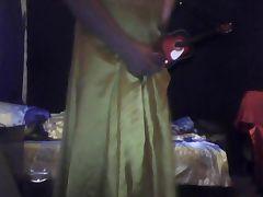 Yello satin dress