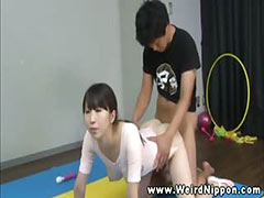 Flexible asian ballerina vagina banged