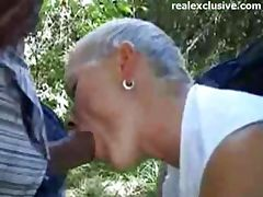 Sex Meeting with German Mom in the woods
