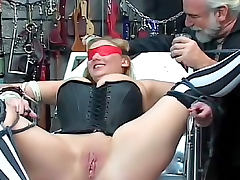 Happy to be bound and hurt in the dungeon