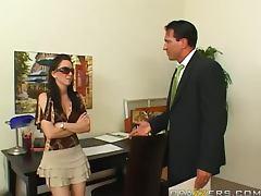Hory Brunette Rayveness Rides Marco Banderas Hard Cock