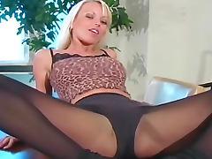 Jana Cova pantyhose tease with