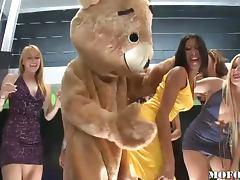 Dancing Bear Fucks Latina Kayla Carrera in Hot Bachelorette Party
