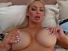 Spectacular Blonde MILF Abbey Brooks Tit Fucks and Bangs a Big Cock