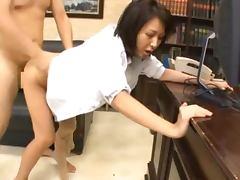 Boss's Fantasy comes True Whe He Fucks Reiko Ishino