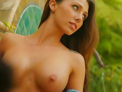 Casey Connelly gets naked in the backyard