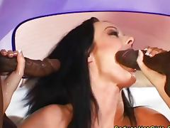 Ariana Jollee and Melissa Lauren love dark meat