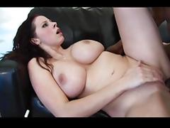 Big tits babe fucks a magic stick